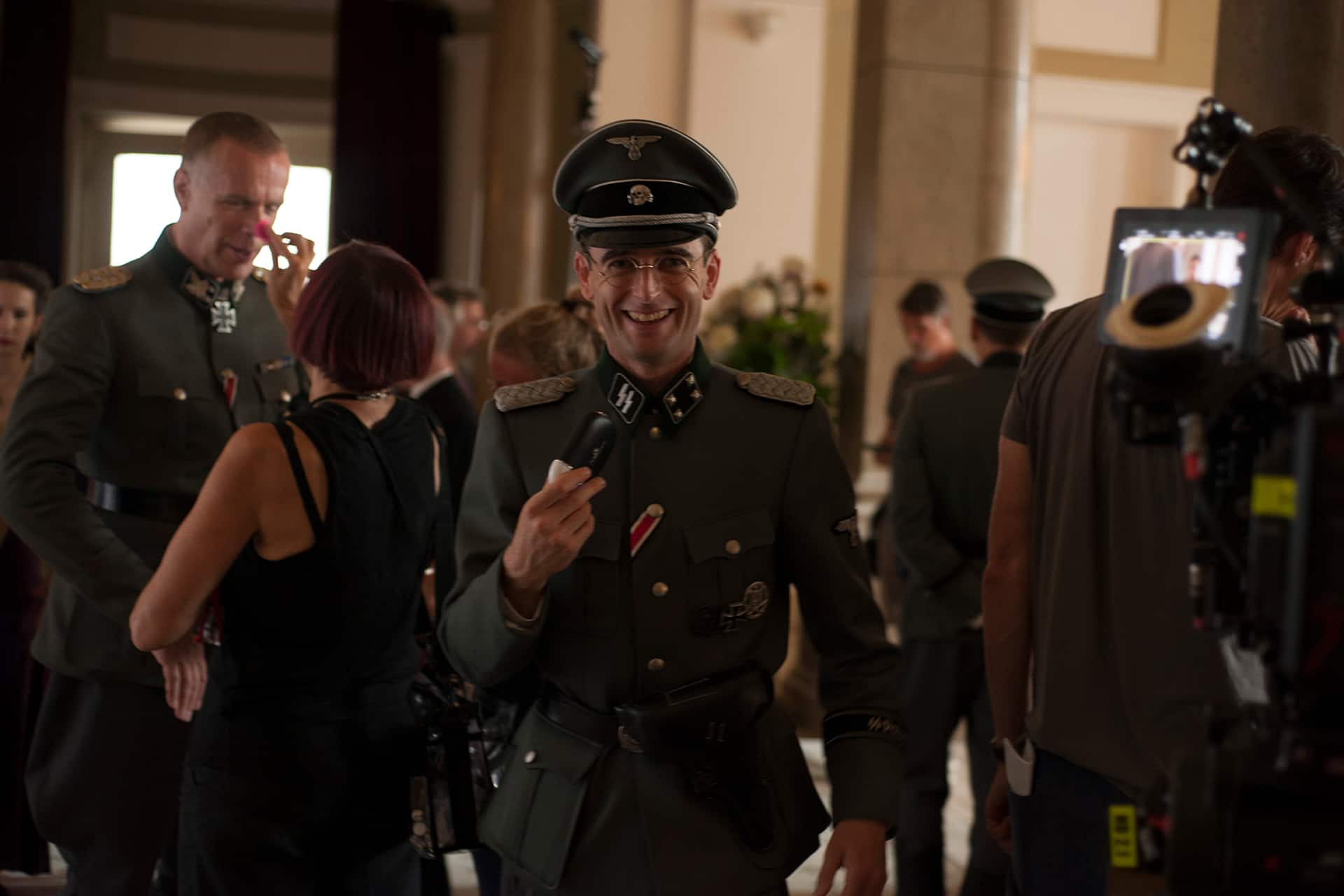 Jack Laskey (Alfred) on the set of X Company Season 3 in Budapest, Hungary.