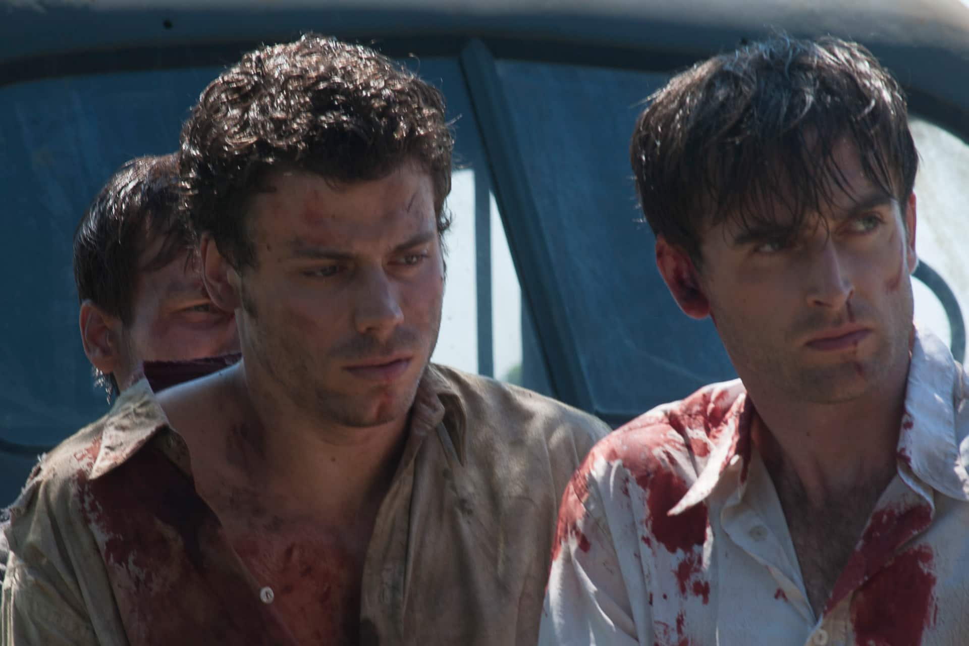 Francois Arnaud as René and Jack Laskey as Alfred in a scene from Season 2.